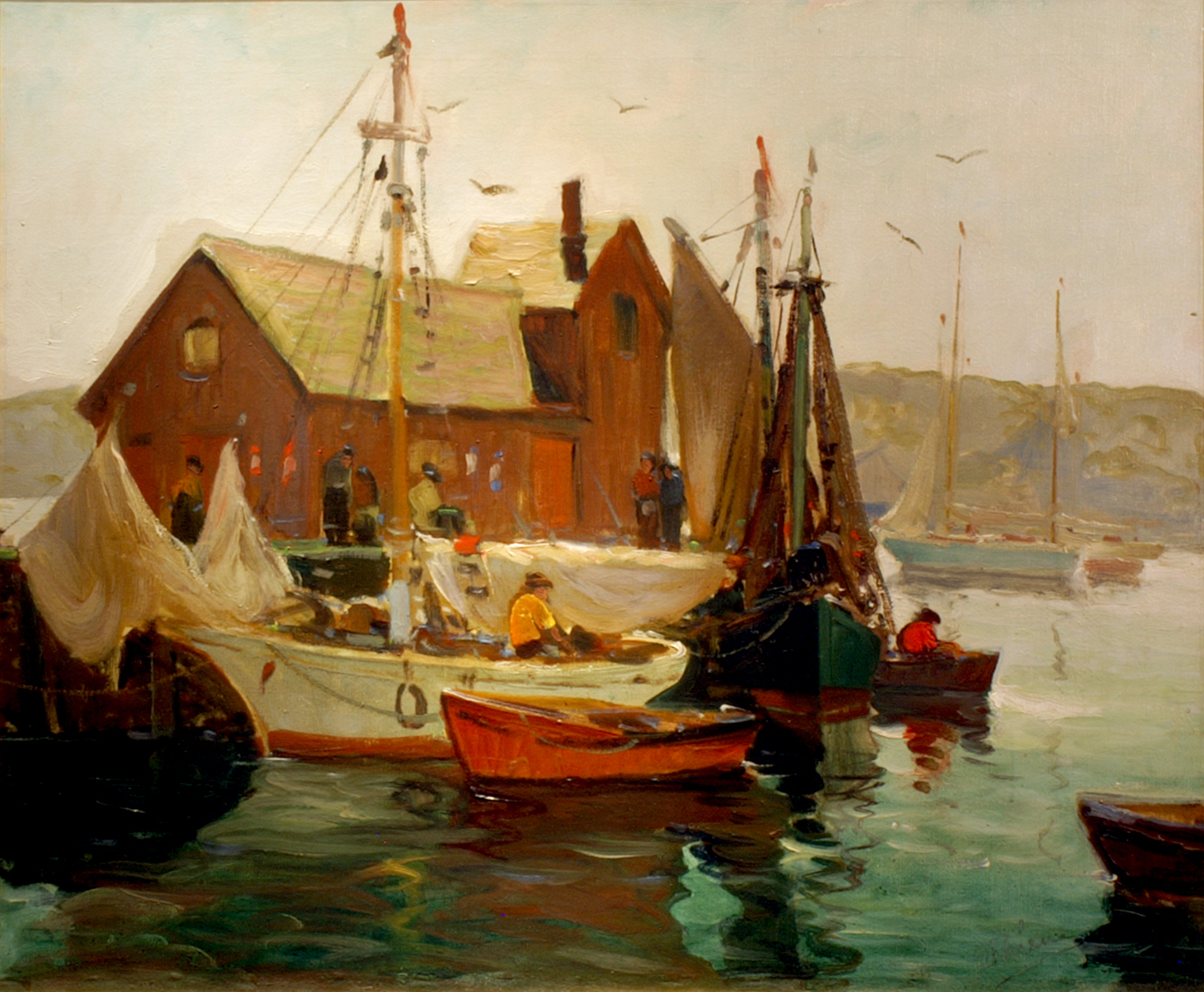 Anthony Thieme, Pleasant Morning, Rockport. Courtesy of Pauline Pocock Antiques, Inc.
