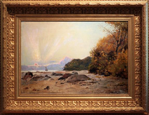 Continental coastal oil painting